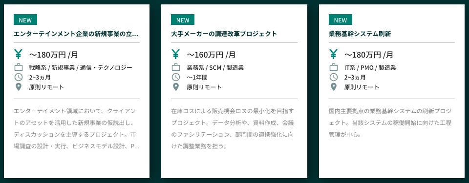 Strategy Consultant Bankの案件例